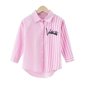 Girl shirt long sleeve 2020 new summer children's striped shirt Korean version of the foreign baby girl on the upper clothes tide 646 Y2