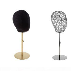 2pcs Black Suede Cork Mannequin Head Hat Rack Cap Wig Holder Display Stand Model