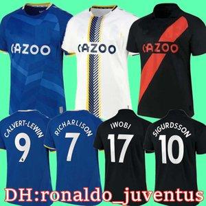 Maillot de 풋 21 22 축구 유니폼 캘러스 lewin 축구 셔츠 James Richarlison Sigurdsson André Gomes Keane 2021 2022 Camiseta de Futbol Tosun Everton Allan