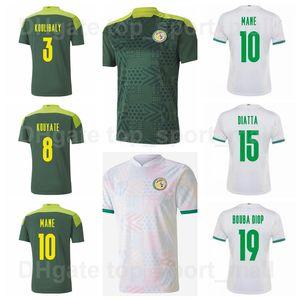 2021-22 Senegal Soccer Jersey National Team 10 MANE 20 KEITA BALDE 9 DIEDHIOU 27 GUEYE 8 KOUYATE DIATTA 26 KITS DE CAMISETA DE FÚTBOL DE KOULIBALY
