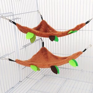 Small Animal Supplies Hamster Hammock Hanging Plush Warm Sleeping Bag Nest Large House For Ferret Pet Bed Soft Cage Swing Accessories