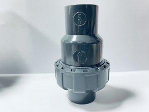 UPVC Single Union Check Valve,DIN 1 2,Dark grey,Socket