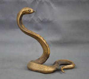 Artware El Yapımı Pirinç Bronz Heykeli Şanslı Kobra Heykel Koleksiyonu Süsler El Sanatları