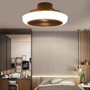 Ceiling Fans Modern LED Fan Lamp With Light Three Color Dimmable Air Cooler App&Remote Control