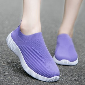 New Fashion Women Vulcanized Shoes Sneakers Slip on Flats Shoes Women Loafers Plus Size 42 Walking Flat