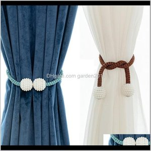 Poles Buckle Braided Round Magnetic Buckles Window Curtains For Living Room Creative Brief Curtain Accessories 112Vl Omgjv