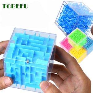 Tobefu 3d المتاهة ماجيك مكعب شفافة ستة من جانب لغز سرعة مكعب المتداول الكرة لعبة كوبوس متاهة لعب للأطفال تعليمية X0522