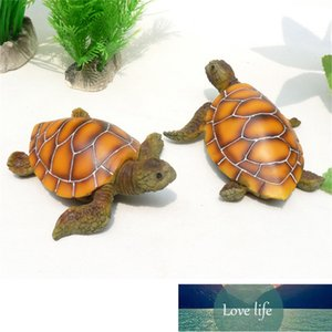 1Pcs Aquarium Ornament Polyresin Turtle Tortoise Artificial Fish Tank Turtle Decoration Supply