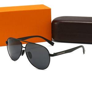 Top Sunglasses de luxo Marca Designer de alta qualidade liga quadro completo polarizando uv400 moda máscaras com conjunto de caixa de presente