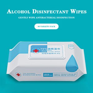 75 Degree Alcohol Wipes 80pcs box Disinfectant Antibacterial Sterilization Portable 75% Alcohol Pad Skin Cleaning Care Wet Wipes_YY