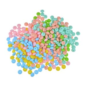 Bopoobo 12mm 20pc Silicone Beads Abacus Lentils Baby Teether Sensory DIY Crafts Chewable Organic Beads Baby Teether 902 X2