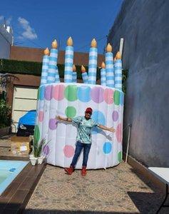 광고 풍선 케이크 룸, 공기 끊임없는 생일 돔 텐트
