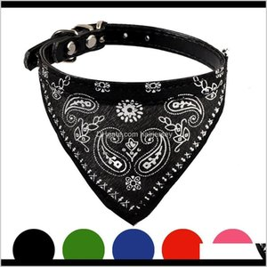 Collars & Leashes Adjustable Puppy Cat Neck Scarf Bandana Collar Neckerchief Pet Products Dog Supplies Accessories High Quality Hdkyz Bvnfh