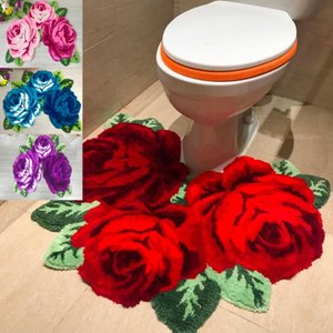 Arrival Beautiful And Soft Rose Rug For Bathroom Stool Carpets
