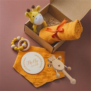 Baby Bath Brinquedos para Kid Organizer Cattle Props Photographic Cobertor Cobertor 0 12 Mês Montessori Brinquedo Nos Recém-nascidos De Madeira Presente 769 Y2