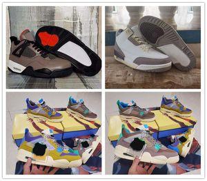 Union X 4 Desert Moss Taupe Haze Hommes Chaussures d'athlétisme 30e Anniversaire A MA Maniere 3 Mens Sneaker en plein air avec boîte