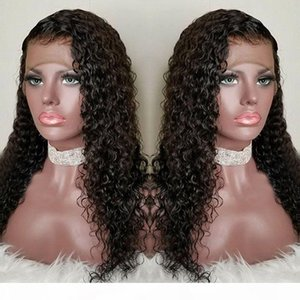 Curly Lace Front Human Hair Wigs-Glueless 130% Density Brazilian Virgin Remy Wigs with Baby Hair for African Americans 12 inch Natural Color