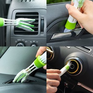 Car Air Conditioner Vent Slit Cleaning Brush Auto Dashboard Keyboard Computer Window Cleaner Dusting Blinds Brush Tools QC22