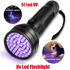 New UV Led Ultraviolet Flashlight Lamp 51 Leds 395nm Ultra Violet Torch Light Blacklight Detector for Dog Urine Pet Stains and Bed Bug Fluorescent Scorpion 510Led