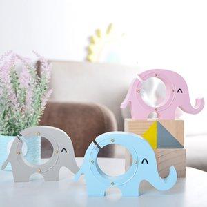 Nordic Style Creative Деревянный слон Копилка Банка Детская комната Детская Украшения Прозрачные Денежные Монетки Сохранение Коробка Детские Игрушки