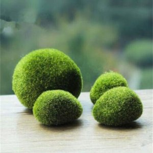 artificial green moss ball fake stone simulation plant DIY decoration for shop window hotel home office plant wall decor