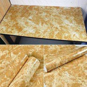 Película de vinilo de mármol Auto adhesivo Fondo de pantalla impermeable para baño Cocina Armario Contactops Contacto Papel PVC Pegatinas de pared 513 R2