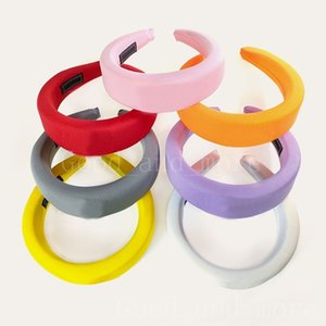 Girl Hair Band Sponge Loose Cute Solid Color Hairpin Inverted Triangle Letter Home Outdoor Headband