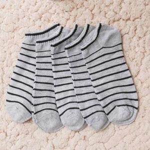 Fashion Men Sock 10 pieces =5 Pairs  lot Package Male Summer Light Socks Stripe Cotton Short Sock Wholesale Couples Socks Sale1