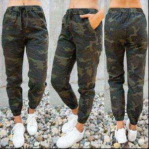 Women Womens Pants Elastic Waist Camouflage Print Cargo Harem Casual Long Military Army Combat Joggers Skinny Legging Trousers