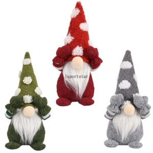 2021 Christmas Decorations Swedish Santa Gnome Doll Ornament Toy Home Xmas Decor Party Gifts C2991