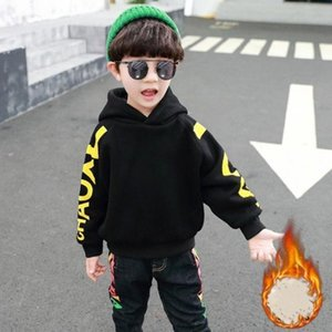 Hoodies & Sweatshirts Boys'  Girls' Cotton Fleece 2021 Plus Velvet Thicken Winter Autumn Warm Tops Kid Baby Children's C