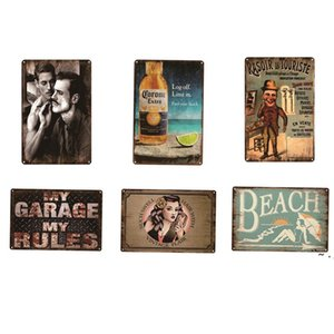 Barbershop Beach Rules Metal Sign Plate retro metal tin Poster Pub Cafe Bar Club Garage Restaurant Car Station Vintage BWB6149