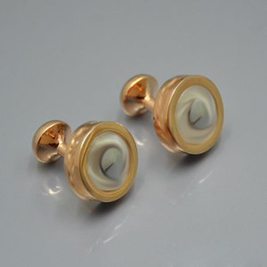 L-M19 Designer Cuff Links French Shirt CuffLinks High Quality Gold rose-gold white background Wholesale Price