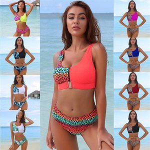 Printing Swimsuit Women Swimwear Push Up Bikini Set Patchwork Biquini Brazilian Summer Beach Bathing Suit Swim Wear Women's
