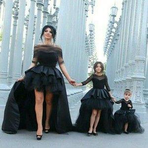 Dresses Custom Daughter Size Color Black Front Short Back Long Skirt New Arrival Mother of The Bride Gown Wedding