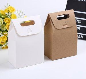 Kraft Box Craft Сумка с ручкой Мыло Candy Bakery Bakery Beakie Beachuits Упаковочные бумажные коробки