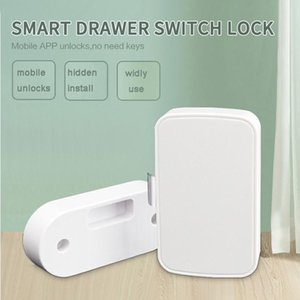 Tuya APP Smart Bluetooth Drawer Lock Lockless Invisible File Cabinet Wardrobe Switch Home Remote Controlers