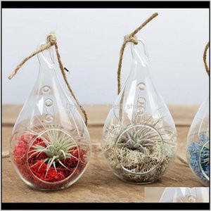 Holders Décor Garden Drop Delivery 2021 Teardrop Hanging Plant Terrarium Clear Balls Container Glass Candle Holder For Home Wedding Decoratio