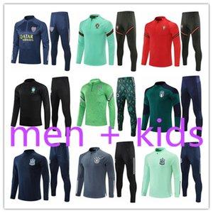 kids + mens 2021 football training suits tracksuit kit survetement foot soccer chandal futbol