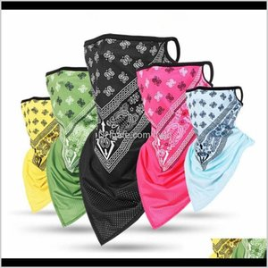 Cycling Caps Masks Fashion Unisex Ice Silk Sport Bandana Triangle Pendant Face Mask Tube Scarf Neck Legging Cover Fishing Headband Hik Ayyb3