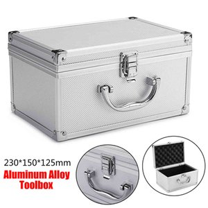 Portable Aluminum Tool Box Large Safety Equipment Toolbox Instrument Box Storage Case Suitcase Impact Resistant Case With Sponge 210430