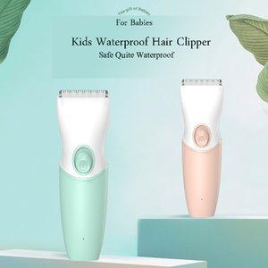 Infant Hair Trimmer Clipper Shaving Low Noise Vibration Waterproof Safe Replaceable Blades For Children Kids