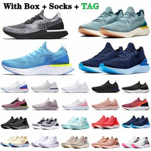 Fly Knit V1 V2 Running Roller Shoes Belgium Pewter EPIC React White Green mens womens Grey Volt Black Blue Burgundy Trainers Sport Sneakers shoe #PCfs#