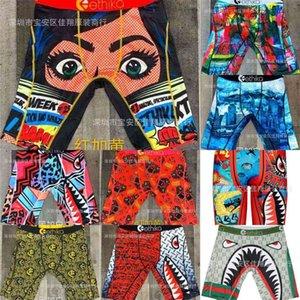 2021 men's designers boxer s beach shorts fashion cartoon shark face swimming short pants riding biker quick dry sports short leggings Swim clothing G4E0ELW