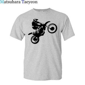 T Gömlek Matsuhara Taeyeon Marka - Gömlek erkek Kol Rahat Moda Kısa Kollu O-Boyun Çapraz Ülke Motosiklet Baskılı XS-3XL