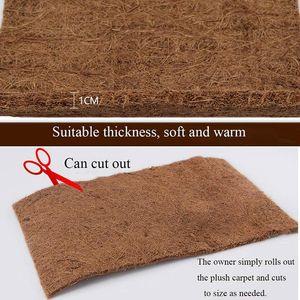 Carpets Reptile Carpet Coconut Fiber Tortoise Mat For Pet Terrarium Liner Supplies Lizard Snake Chameleon GHS99