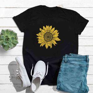 Sunflower Printed Tshirt Women Summer O-neck Short Aesthetiic Mouwen Tops S-5XL Plus Size Tee Shirt Femme Camiseta Mujer