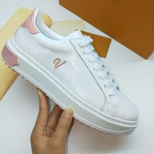Time Out Sneakers Mulheres Luxo Sapatos Genuíno de Couro Moda Marca Sapato Casual Para Mulher Tamanho 35-41 Modelo HY311