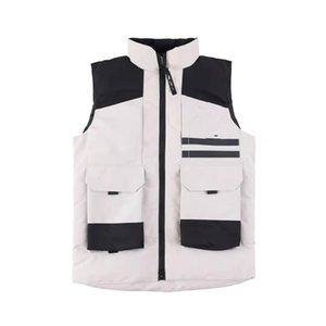 2021 Newest Men's Goose Vest Warm White Duck Down Cotton Vests Winter Outdoor Outerwear Coats Size XS-XXL