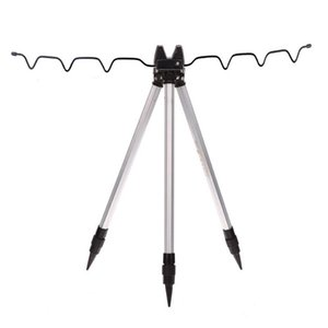 Aluminum Alloy Fishing Tripod Holder Stand For Rod Silver Reel Combo